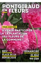 Plantation des fleurs de la commune – dimanche 21 mai